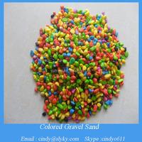 dyed coloured aquarium gravel sand