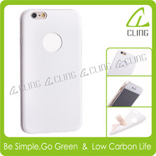 For Apple iPhone4 case transparent crystal clear TPU cover+leather case for iphone 4 5 6