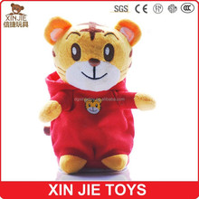2015 new plush musical animal toys nice design soft musical animal doll hot sale stuffed tiger toy with music