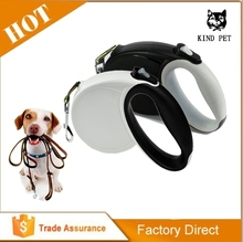 Lighted nylon rope retractable dog leash strong