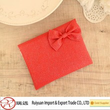 Beautiful red felt purse ,felt wallet with bow tie designed for girls