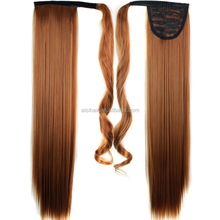 Aubure ponytail extension hairpiece long straight wave clip in ponytail 30#