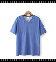 Wholesale High Quality Custom Made Blank Comfort Men's Plain V Neck T Shirts