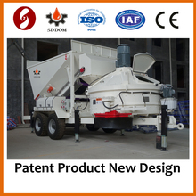High efficiency construction machinery movable hauling belt concrete mixing plant