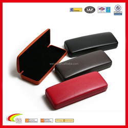 Factory Direct Supply High Quality Classic Smooth PU Leather Eyeglasses Case with Black Velvet Lining