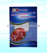 Fully display the customer's brand image frozen fish packaging bag made in China