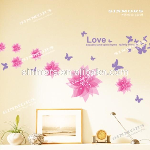Niza p rpura flores de lavanda pegatinas de pared for Pegatinas pared ninos