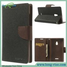 Hot Sale Dual Color Mercury Goospery Fancy Diary Case for Nokia XL Flip Cover