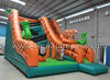 Hot sale Jungle theme inflatable tiger slide bouncy combo for kids and adults