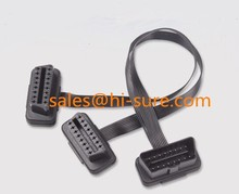J1962 OBD2 connector Male to Female Extension Flat Split Y cable