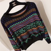 Cheap hot sale top quality stylish custom pullover knitting