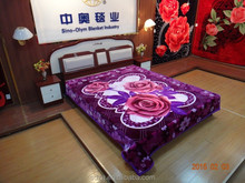 100% polyester raschel super soft mink fashion designs Shandong factory blanket ALM29