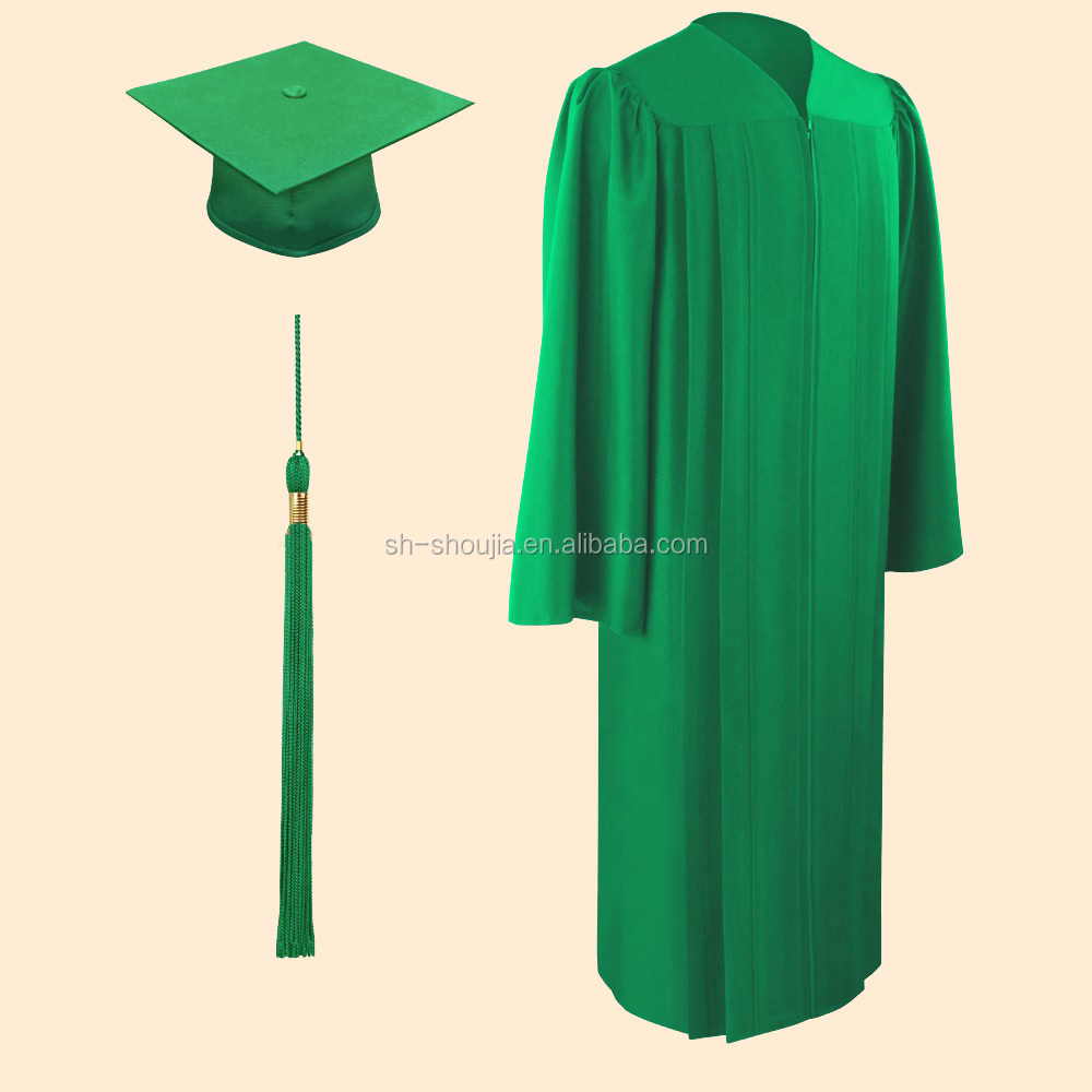 Eco-friendly Green Bachelor Graduation Cap And Gown,Graduation Cap ...