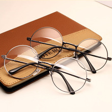 05 ewlxdz retro round metal optical frames for men and women plain mirror decorative frames can be equipped with myopia Pr