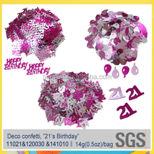 21's birthday theme party supplies confetti