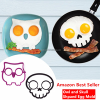 2015 New Products Silicone Kitchen Egg Molds, Egg Pancake Molds, Owl Shaped Molds Fried Eggs - China Supplier