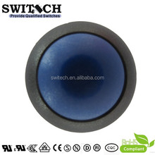 12mm SPST with round blue actuator and screw mounting hole push button switch