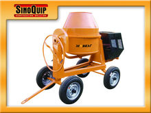 Famous Brand:Sinoquip,Cement Mixer SM350, Towable Mini Cement Mixer with Electric Start 6.6HP Diesel Engine Concrete Mixer