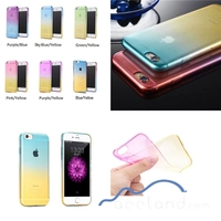 New 2 Colour Gradient Gel Tpu Silicone Back Cover Color Changing Phone Case For iPhone 6 5 5S