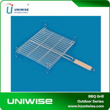 High Quality Bbq Grill Grates Wire Mesh Large steel handle clip four feet mesh