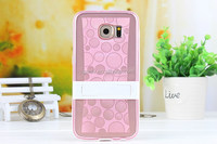 Newest Clear Tpu Mobile Phone Shell High Transparent Shining With Stand For S6
