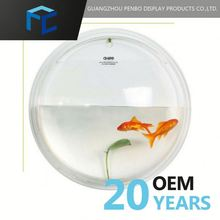 Small Order Accept Customized Clear Plastic Fish Bowls