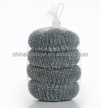 stainless steel ball, mesh scrubber, galvanised wire scourers