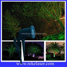 AC 12V low voltage waterproof starry outdoor green laser light for trees' decoration