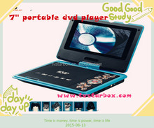 cheap price fast delivery 7'' portable evd dvd player with tv tuner fm portable dvd player