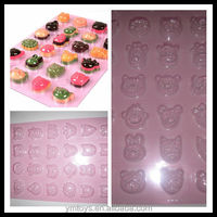 A mold making 24 lovely small animals,birthday party,cake decorating chocolate fondant plastic molds,PET,QM47
