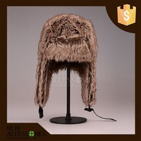 Russian style faux fur trapper hats