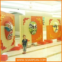 Customized Beijing Opera Facial Mask for window display