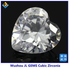 White Heart Cut Cubic Zirconia Gems