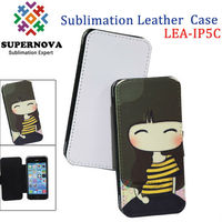 Sublimation wallet leather case cover for iPhone 5c