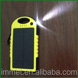 5000mAh Sports Design Portable Waterproof Dual USB External Backup Battery Solar Charger Power Bank
