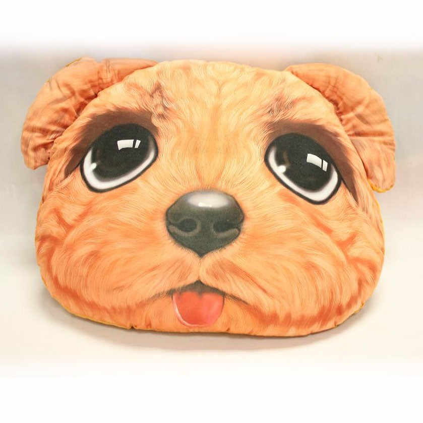 Latest Design Decorative Pillow 3d Digital Printing Plush Animal Head Dog Shaped Cushion - Buy ...