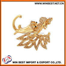 hot sell delicate multicolor channel brooch pin