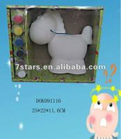 Ceramic DIY horse painting kits , children toy