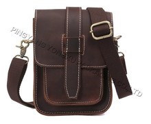 fashion personality Vintage Small Leather Chest Bag Fanny Purse Crossbody Bag for Men