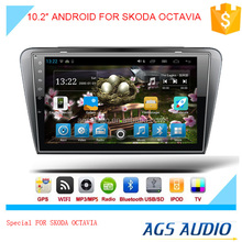 New 10.2 inch Android 2015 Latest Android car GPS navigation manufacturer for SKODA OCTAVIA