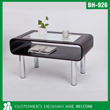 Modern Glass Table, Glass Tea Table, Wooden And Glass Coffee Table