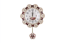 Hot Sale Beautiful Flower Art Wall Clock for WeddingGoods and Gifts