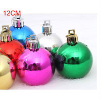 Wholesale personalized christmas sparkle ball/ christmas ball ornament