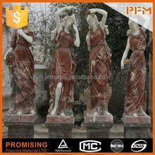 hot sale natural well polished marble made hand carved women famous art sculpture