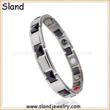 Alibaba website Top quality best selling fashion new oem negative ion titanium bracelet,titanium germanium bracelet