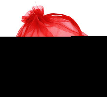 Wholesale Red Organza Bag 9x7cm Wedding Jewelry Packaging Pouches Nice Gift Bags 100Pcs/Lot