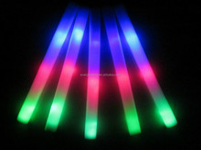 RGB LED foam sticks with stickers logo whole sell 2015