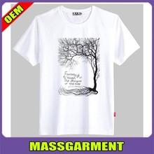 100% polyester wholesale elongated print o-neck men's t shirt