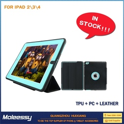 shockproof for ipad 2 3 4 pu leather case
