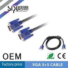 SIPU hot sale vga cable 3+5 vga cable male to female hdmi cable ethernet 1.4v 1080P